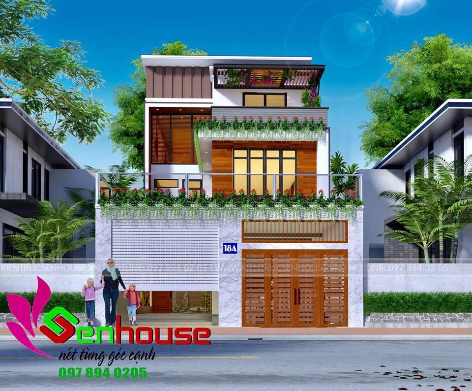 thiết kế nhà 2.5 tầng tại nghệ an