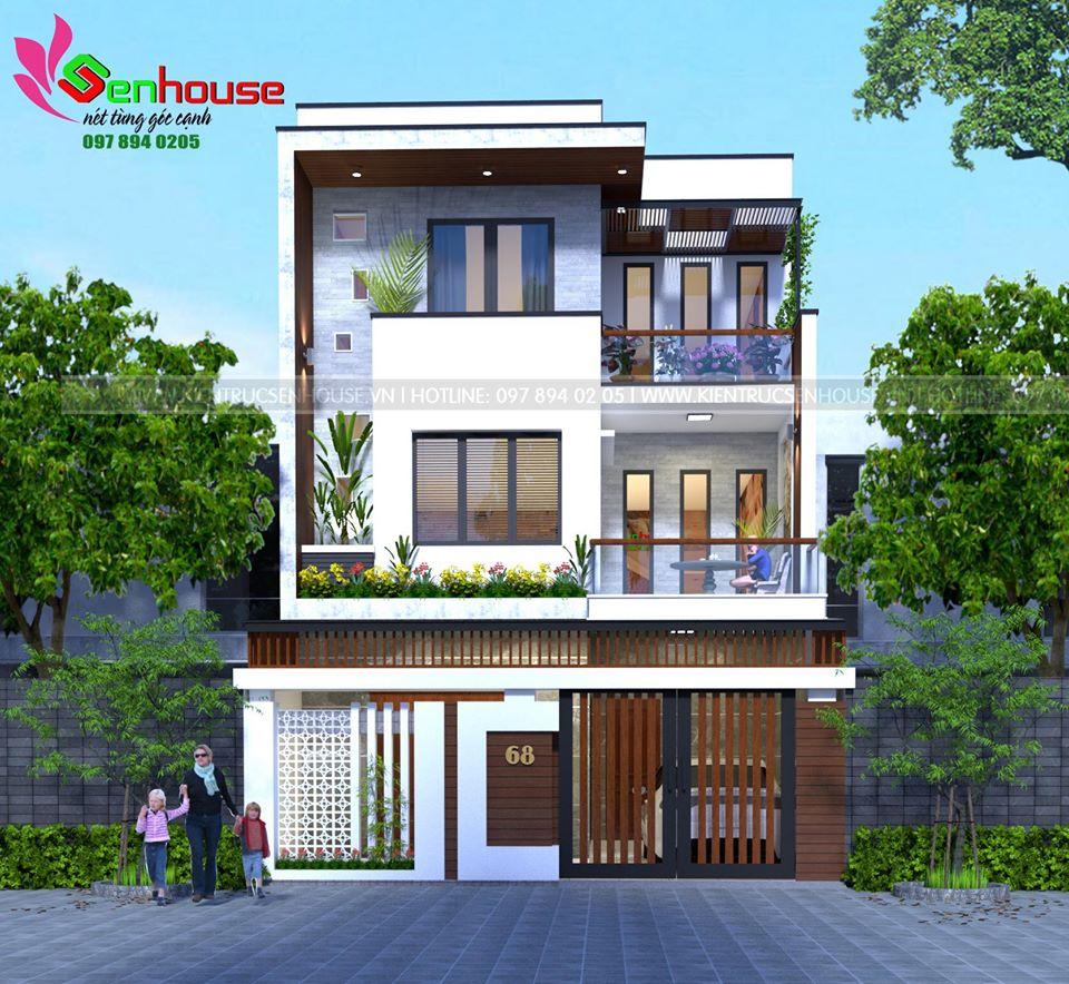 Mẫu thiết kế biệt thự phố 3 tầng ở Tp. Vinh- Nghệ an (Anh Nguyên)