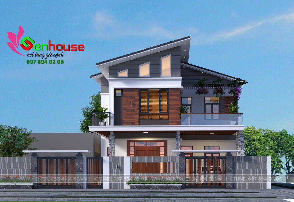 Thiết kế nhà 2 tầng 1 tum của anh Khanh - Quỳnh Lưu