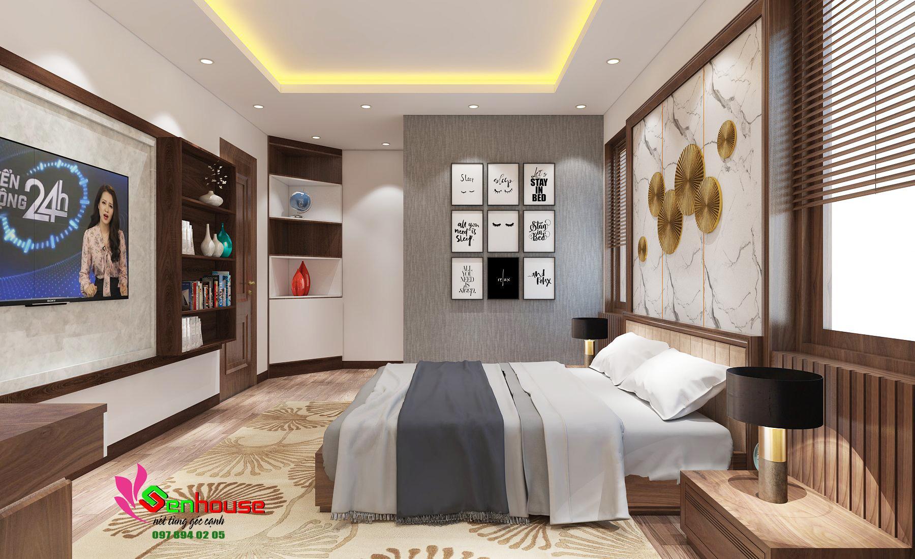Thiết kế nội thất nhà anh Huy ở Thái Hòa Nghệ An NT203