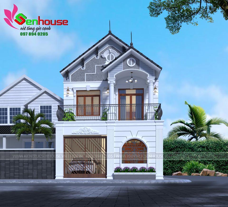Mẫu thiết kế nhà 2 tầng cho gia đình anh Trung tại Nghi Lộc Nghệ An