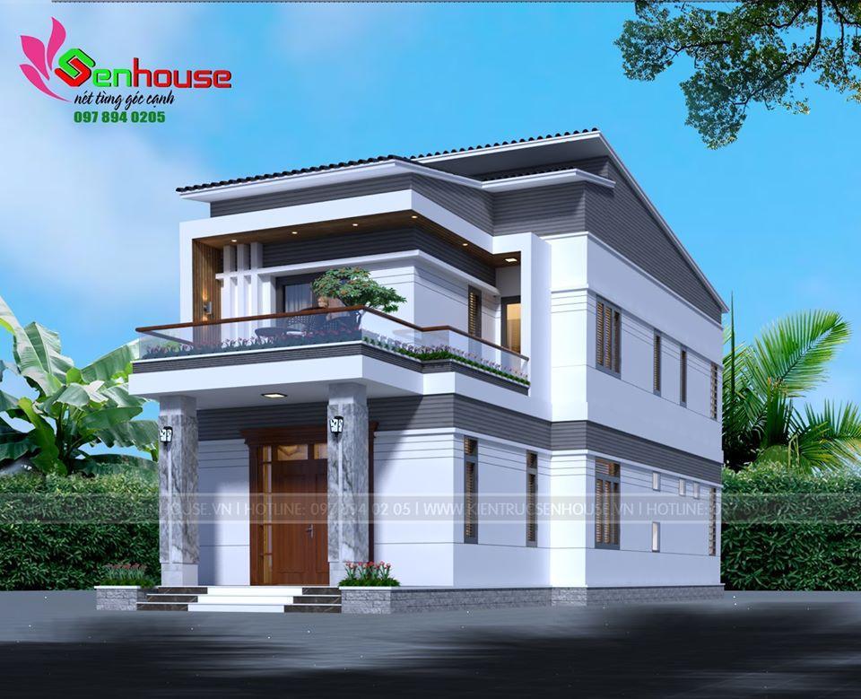 Mẫu thiết kế nhà ống 2 tầng của gia đình anh Hùng tại Diễn Châu Nghệ An