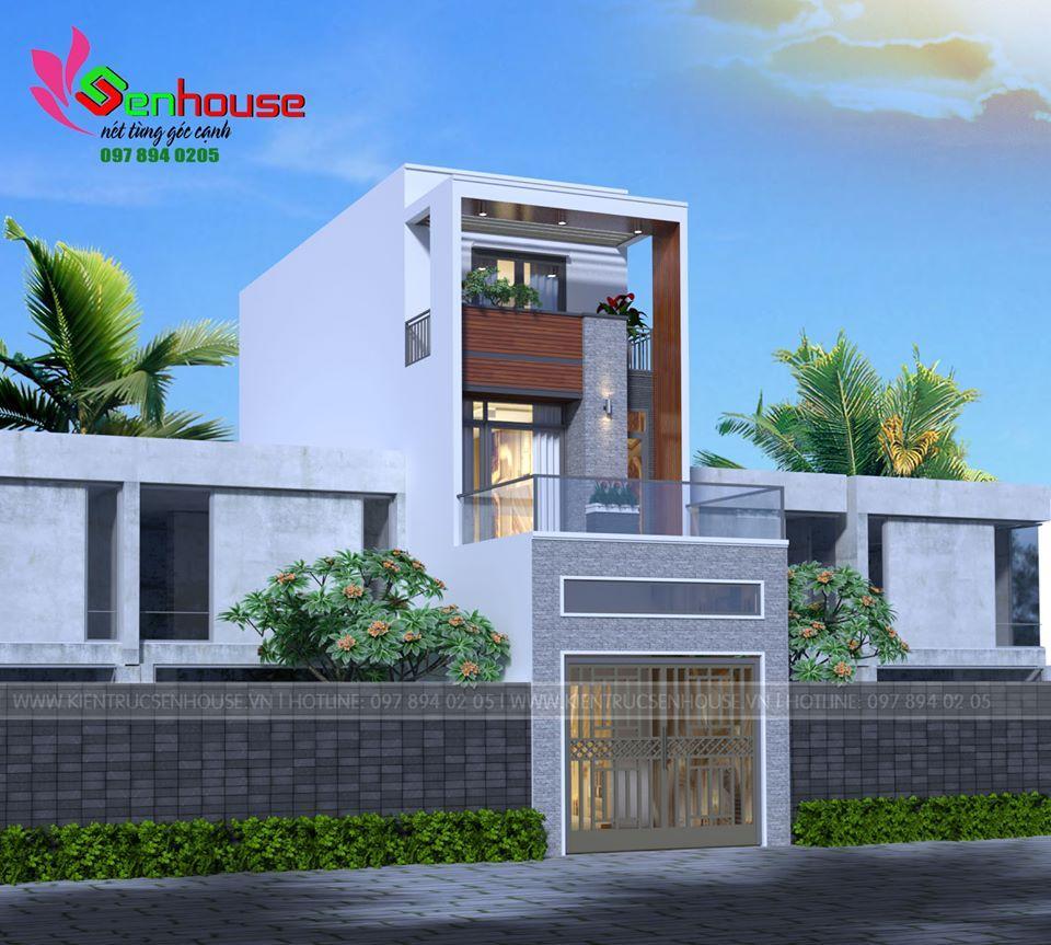 Mẫu thiết kế nhà ống 2.5 tầng của gia đình anh Lý tại Tp Vinh Nghệ An