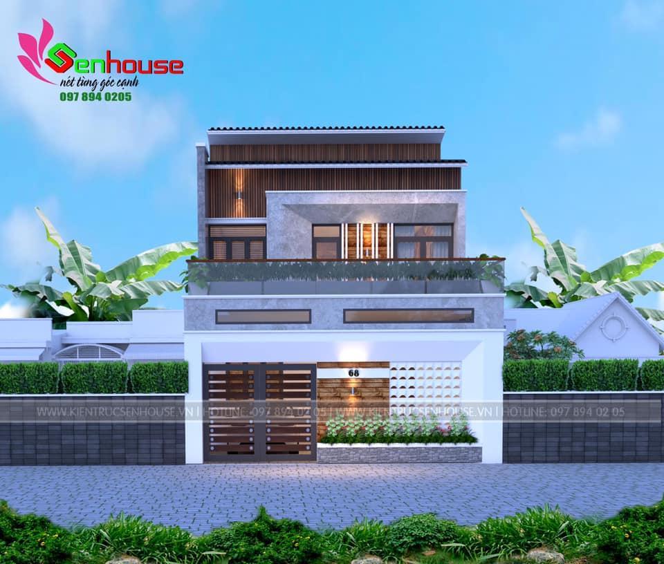 Mẫu thiết kế nhà 2 tầng của gia đình anh Hùng tại Nghi Lộc