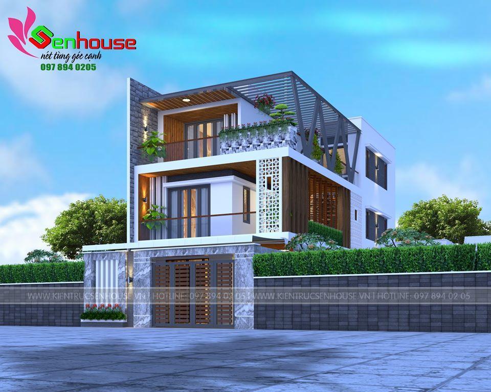 Mẫu thiết kế nhà 3 tầng của gia đình anh Toàn tại Tp Vinh