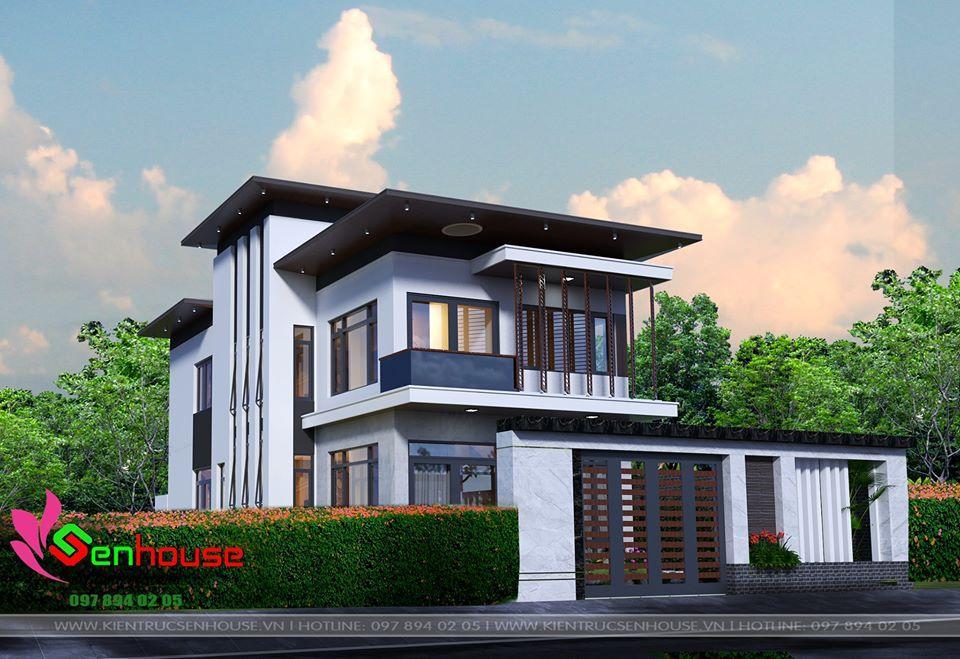 Thiết kế nhà 2 tầng của gia đình anh Nguyên tại Diễn Châu