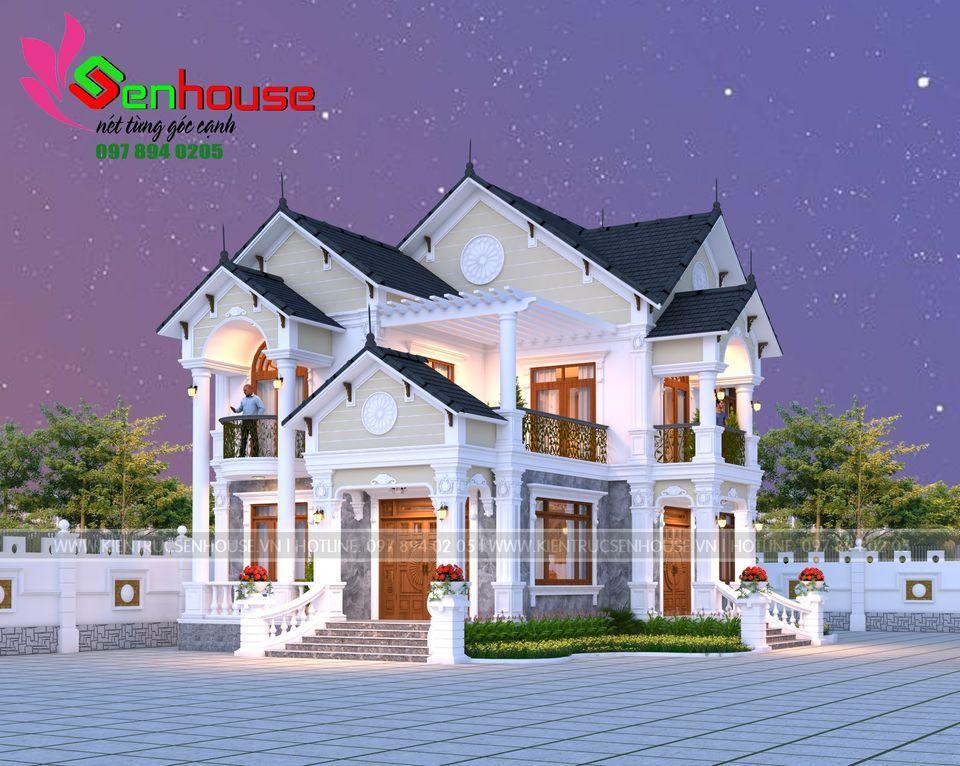 Mẫu thiết kế biệt thự tân cổ điển của gia đình anh Biên tại Diễn Hùng Diễn Châu