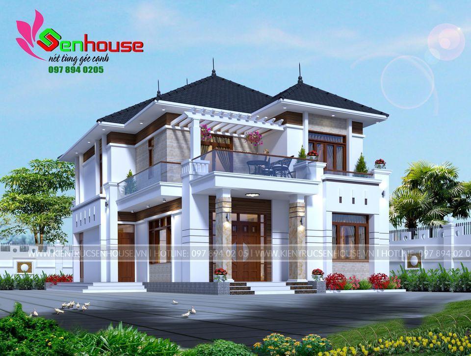 Mẫu thiết kế nhà 2 tầng 3 phòng ngủ của gia đình anh Phú tại Quỳ Hợp