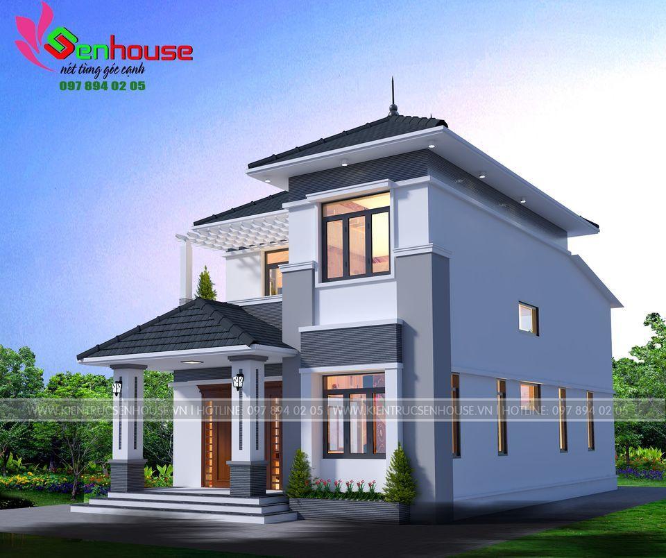 Mẫu thiết kế nhà 1 tầng rưỡi hiện đại của gia đình anh Tâm tại Hương Sơn