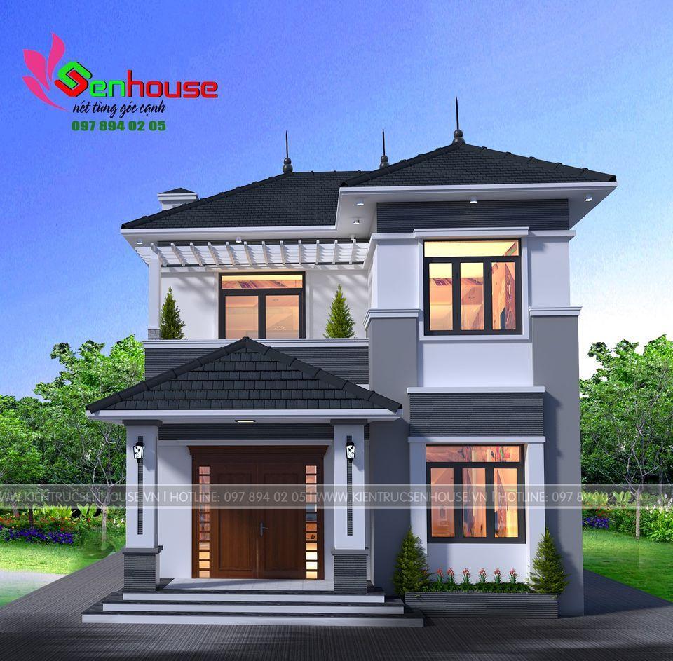 Mẫu thiết kế nhà 1 tầng rưỡi