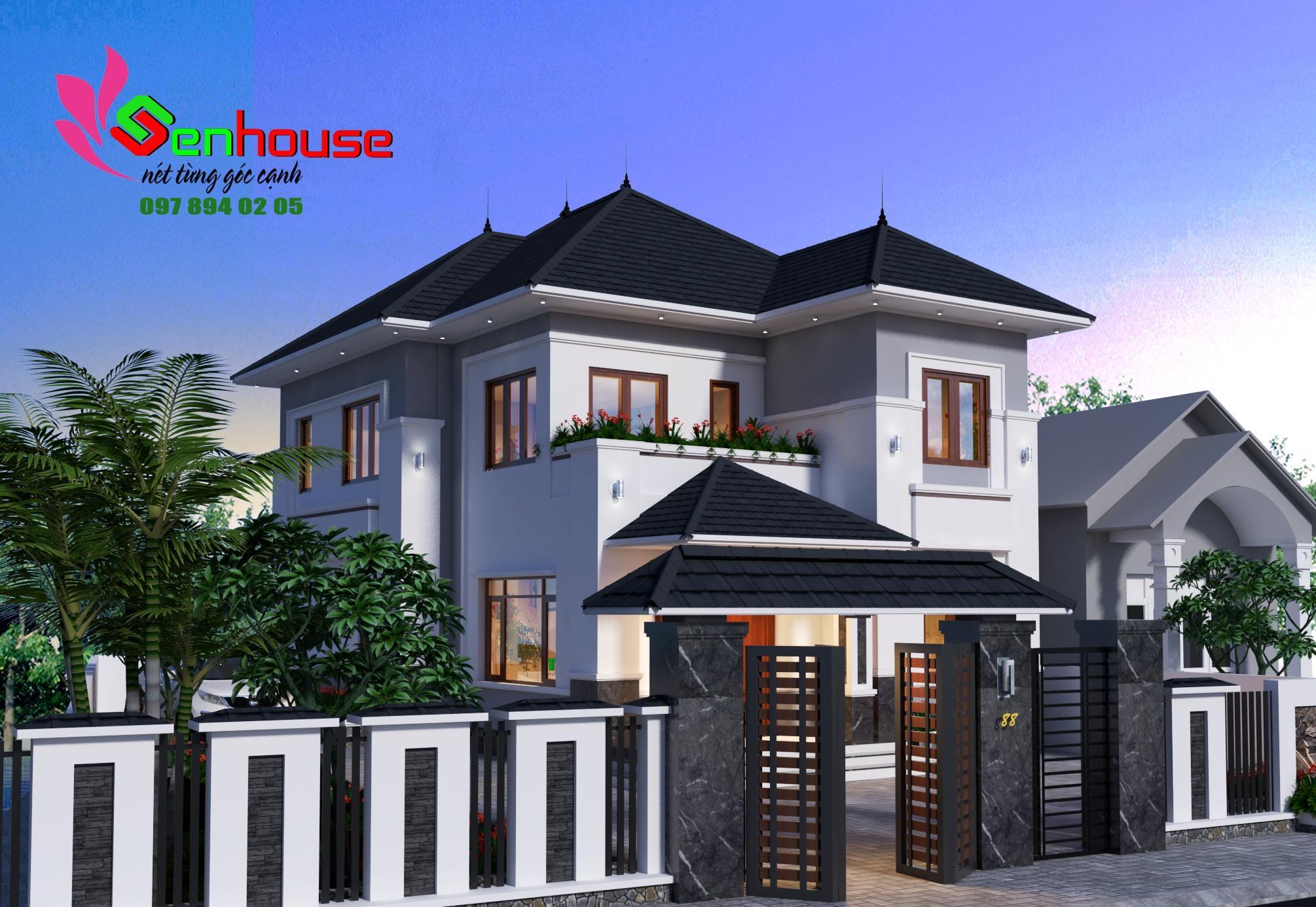 Mẫu thiết kế nhà 2 tầng cho gia đình anh Hoàng tại Hồng Lĩnh Hà Tĩnh