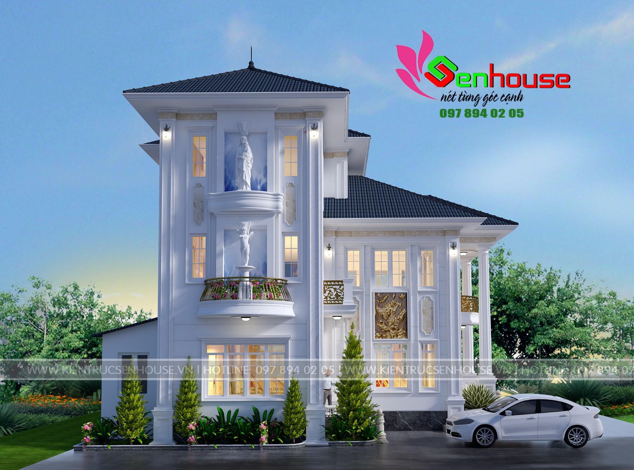 Mẫu thiết kế biệt thự của gia đình anh Diện tại Diễn Châu