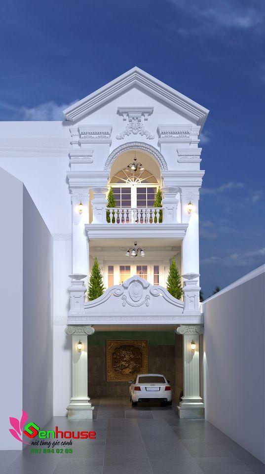 Mẫu thiết kế nhà 3 tầng của gia đình chị Dung tại Tp Vinh