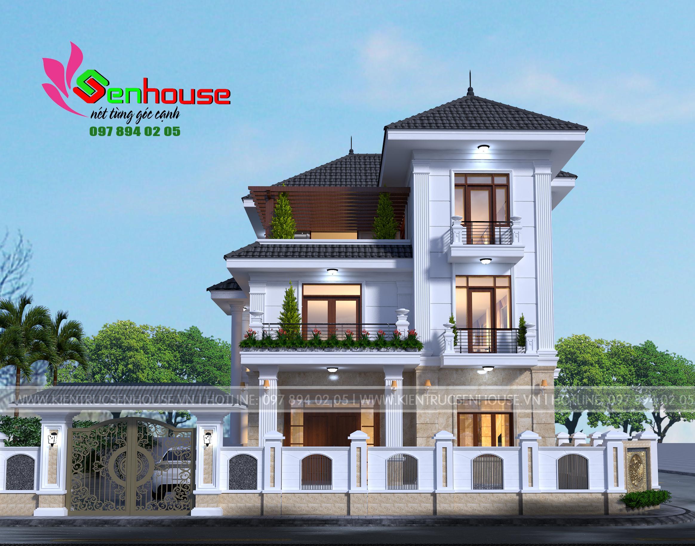 Thiết kế nhà 3 tầng theo phong cách hiện đại cho gia đình anh Thanh