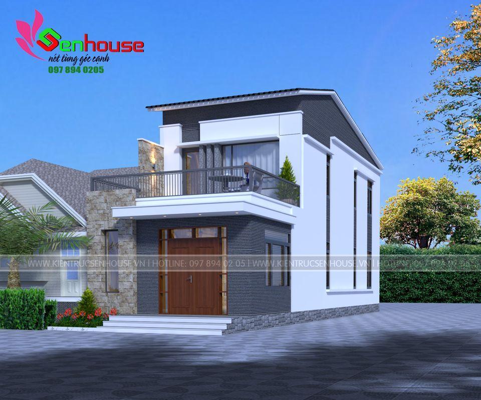Một bên hông ngôi nhà
