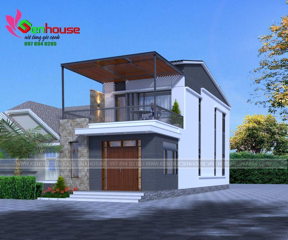 Mẫu thiết kế nhà 2 tầng trẻ trung - hiện đại