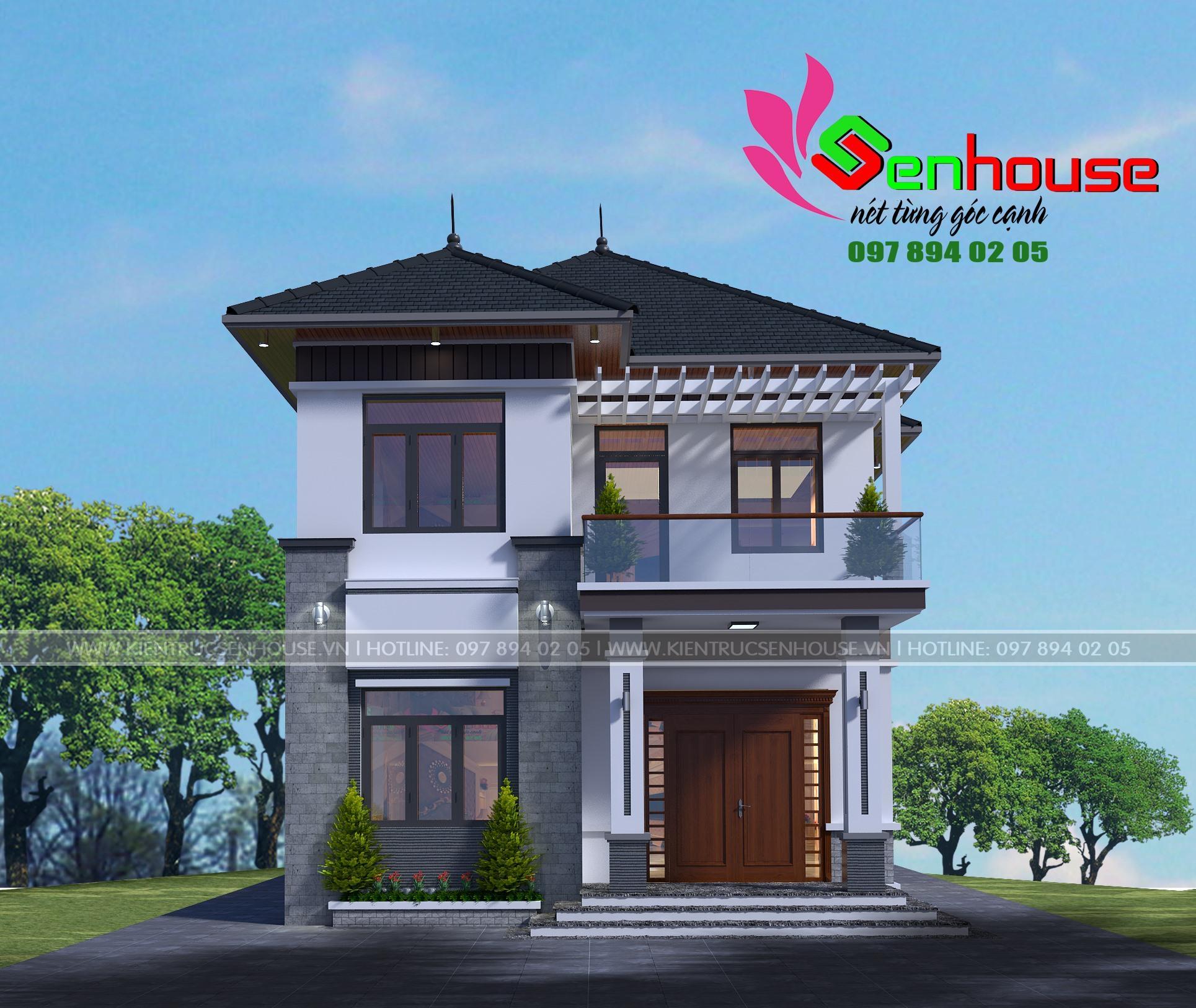 Mẫu thiết kế nhà 2 tầng hiện đại của gia đình anh Nam ở Hà Tĩnh