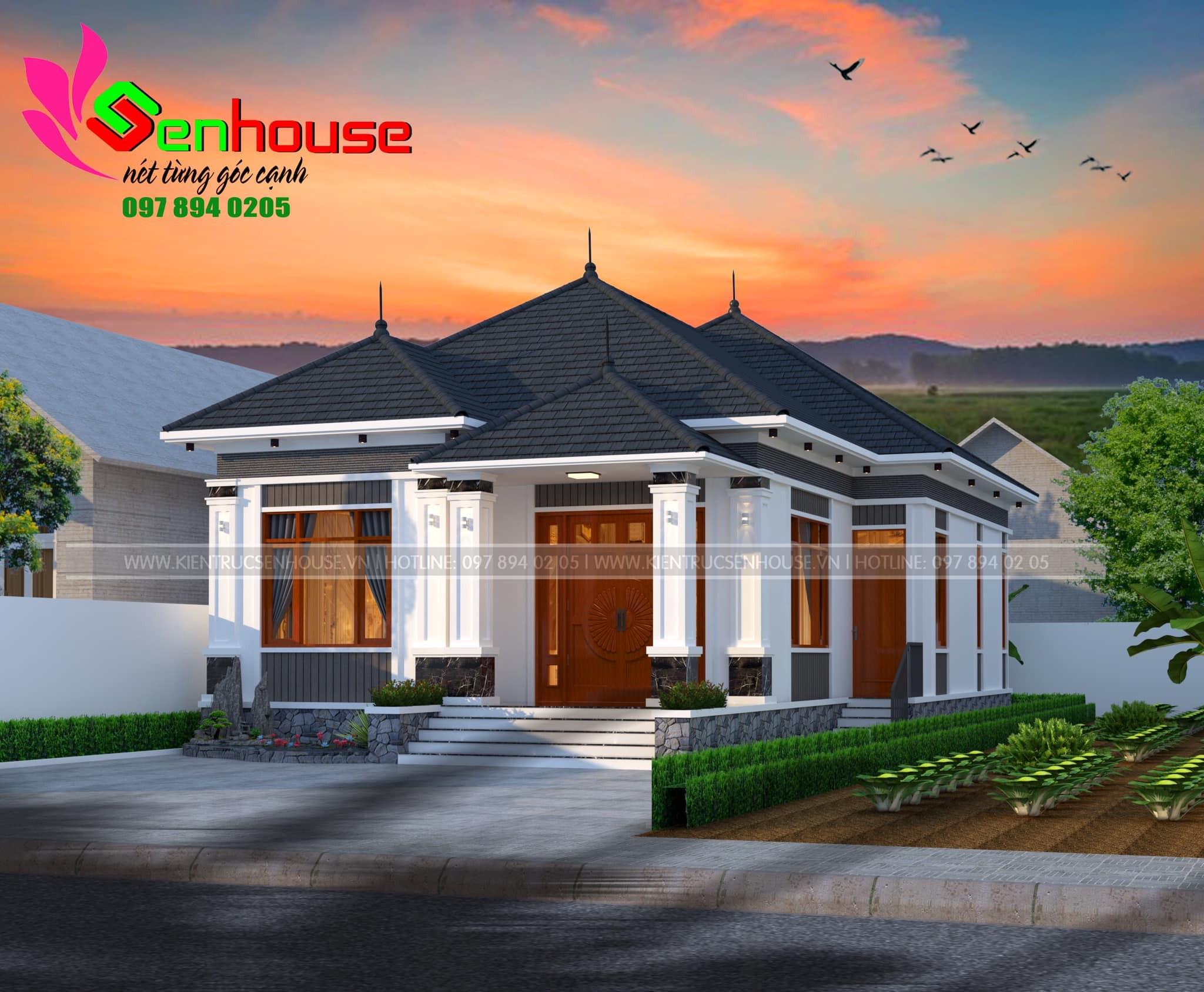 Thiết kế nhà cấp 4 mái nhật với 3 phòng ngủ của gia đình anh Nam tại Nghĩa Đàn