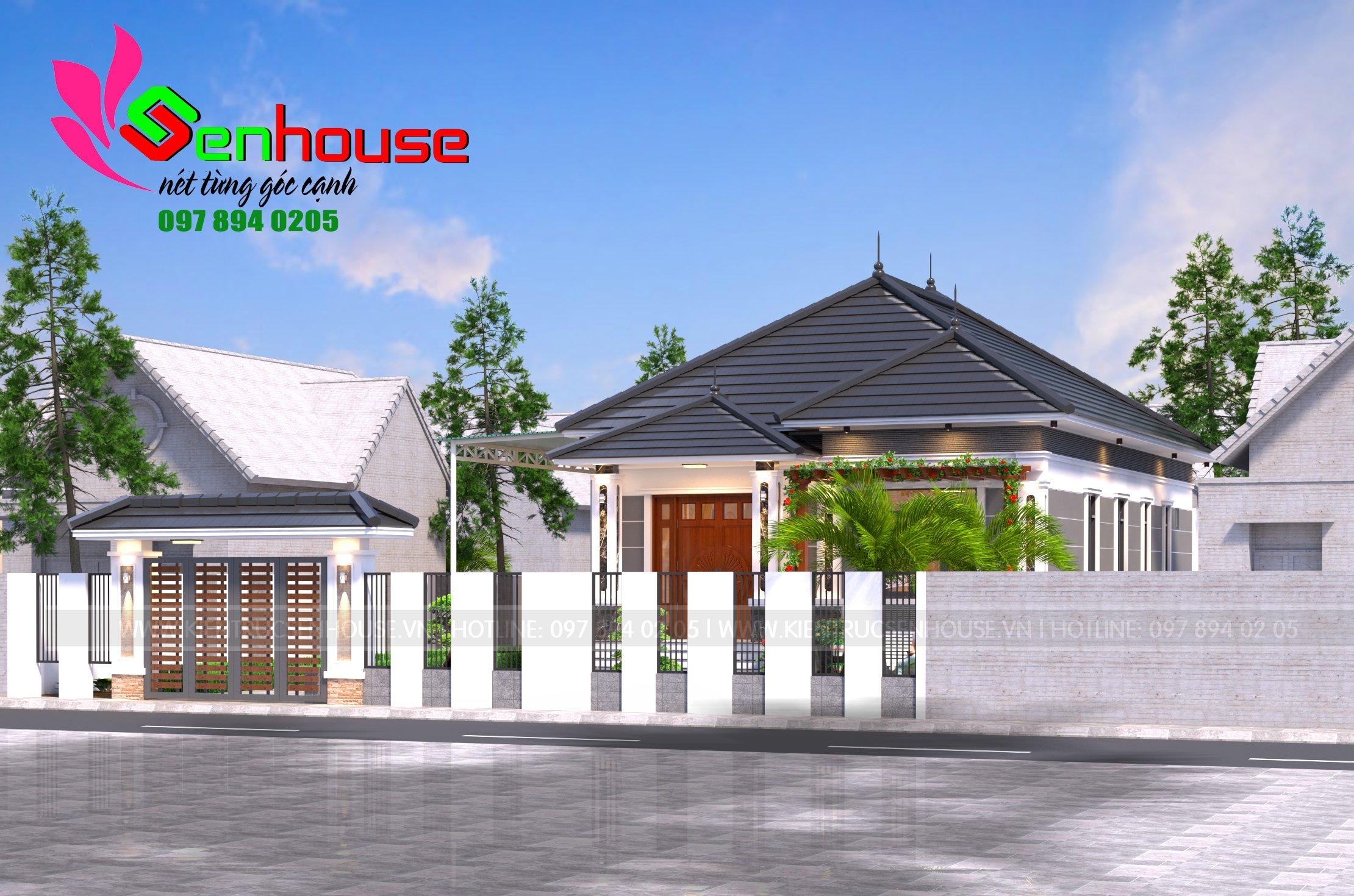 Thiết kế nhà cấp 4 diện tích nhỏ của gia đình anh Chiến
