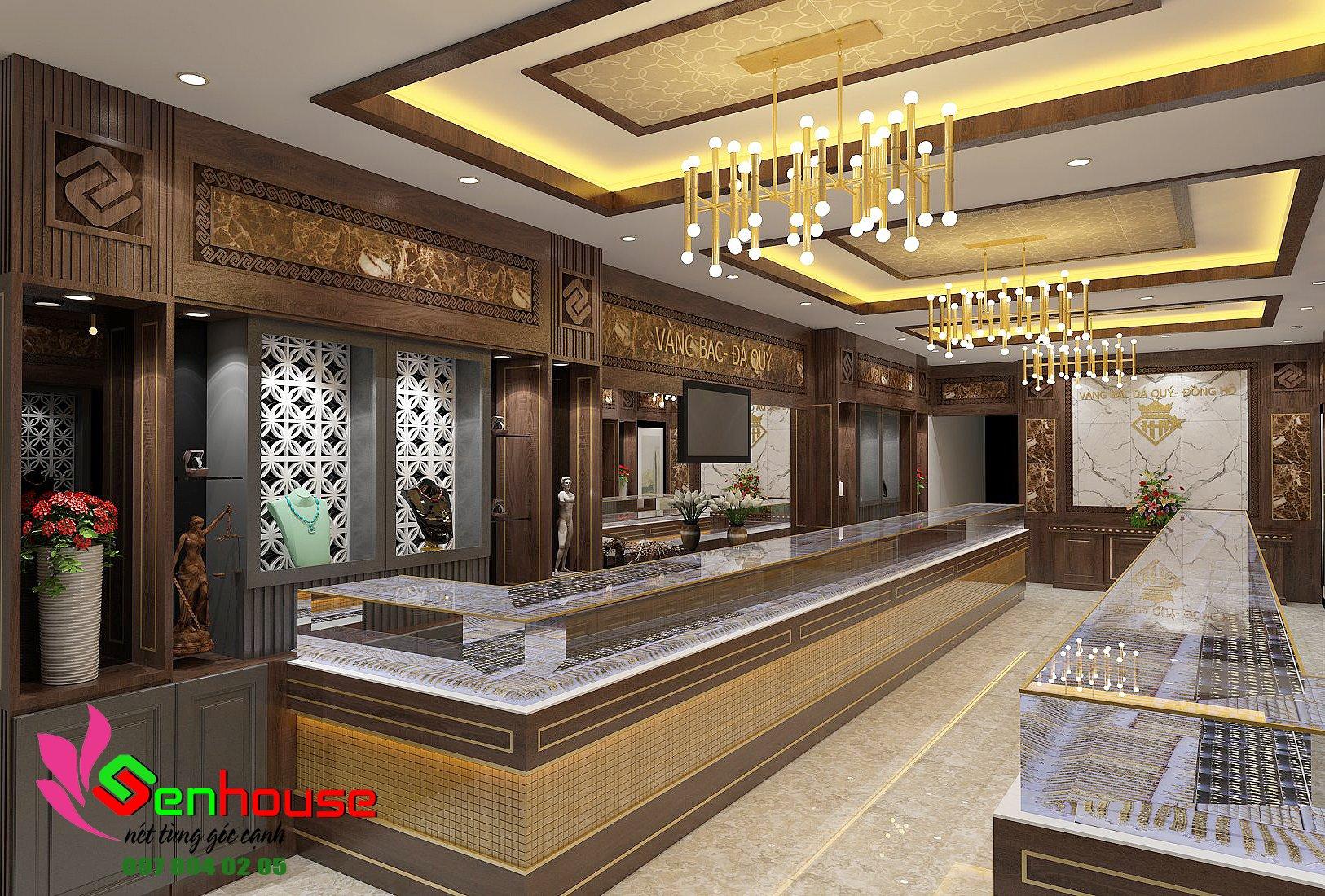 Thiết kế trang trí tiệm vàng