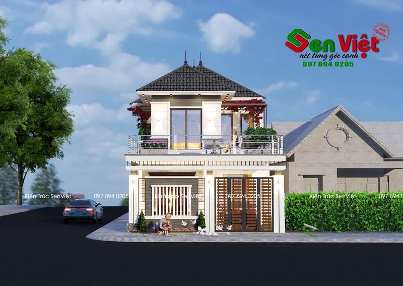 Mẫu thiết kế nhà 2 tầng Nghệ An đơn giản, tiết kiệm chi phí