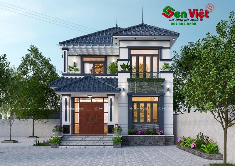 Thiết kế nhà 2 tầng hiện đại ở Yên Định Thanh Hóa (anh Dũng)