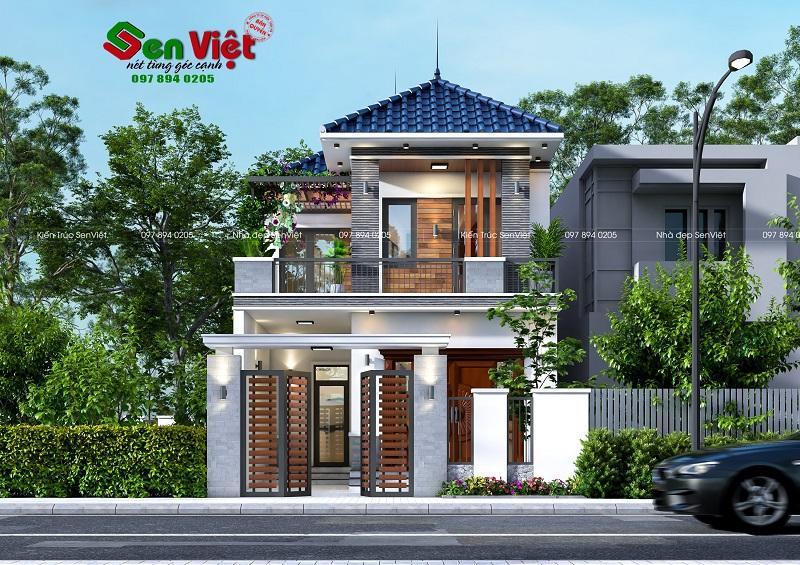 Thiết kế nhà 2 tầng ở Yên Thành Nghệ An (Anh Hòa)