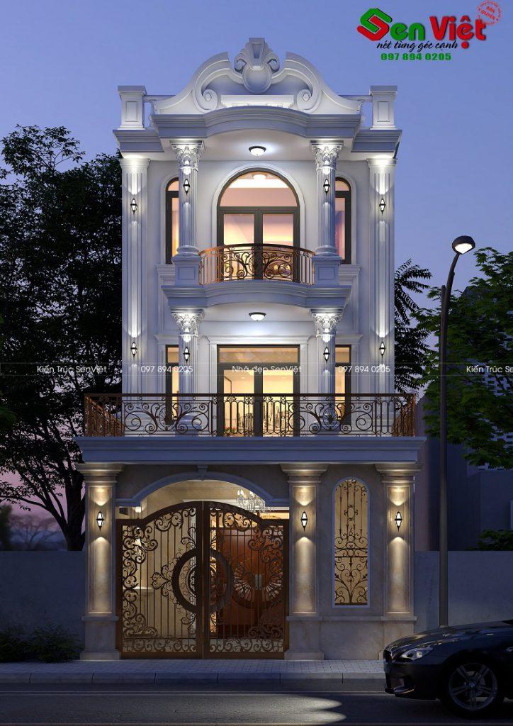 Mẫu thiết kế nhà 3 tầng tân cổ điển