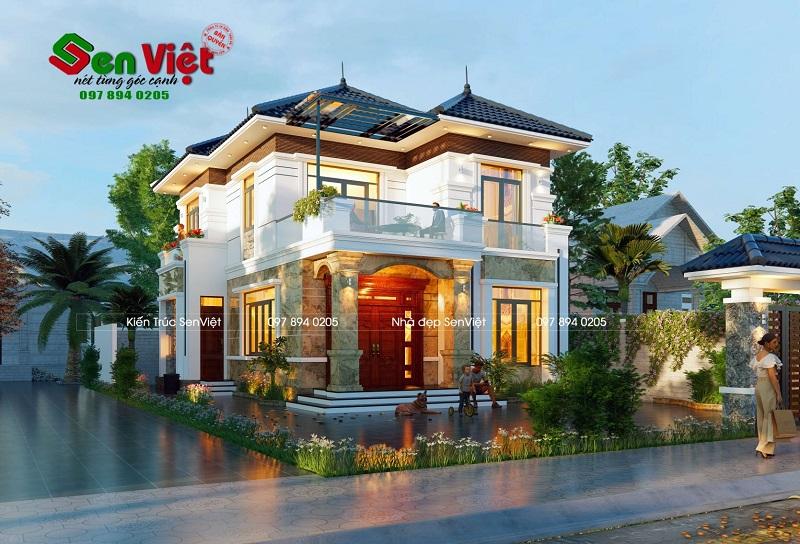 Mẫu thiết kế nhà 2 tầng ở Nghi Xuân Hà Tĩnh (anh Trung)
